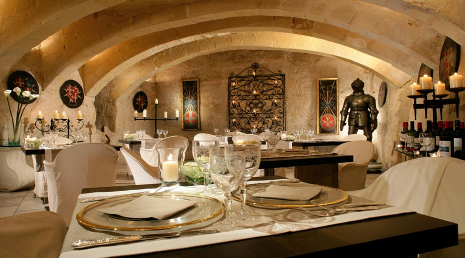 Palazzo Parisio - Dining in The Wine Celler