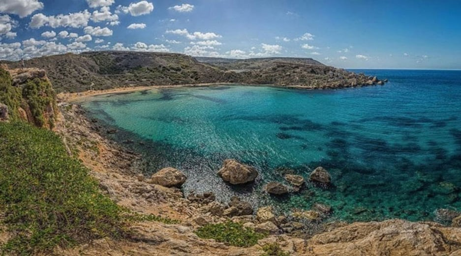 One of the best beaches in Malta - Ghajn Tuffieha Bay