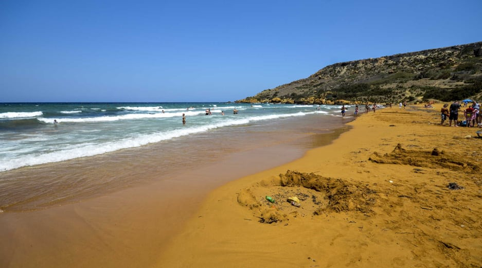 Best beaches in Gozo - Ramla l-Hamra