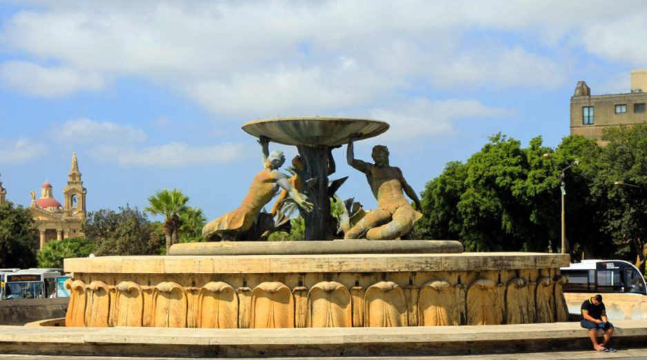 The Triton Fountain Malta