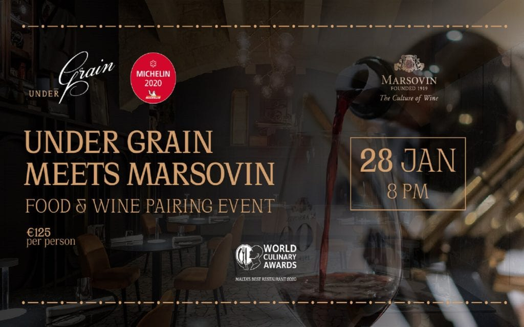 Under Grain meets Marsovin for exclusive Food & Wine night